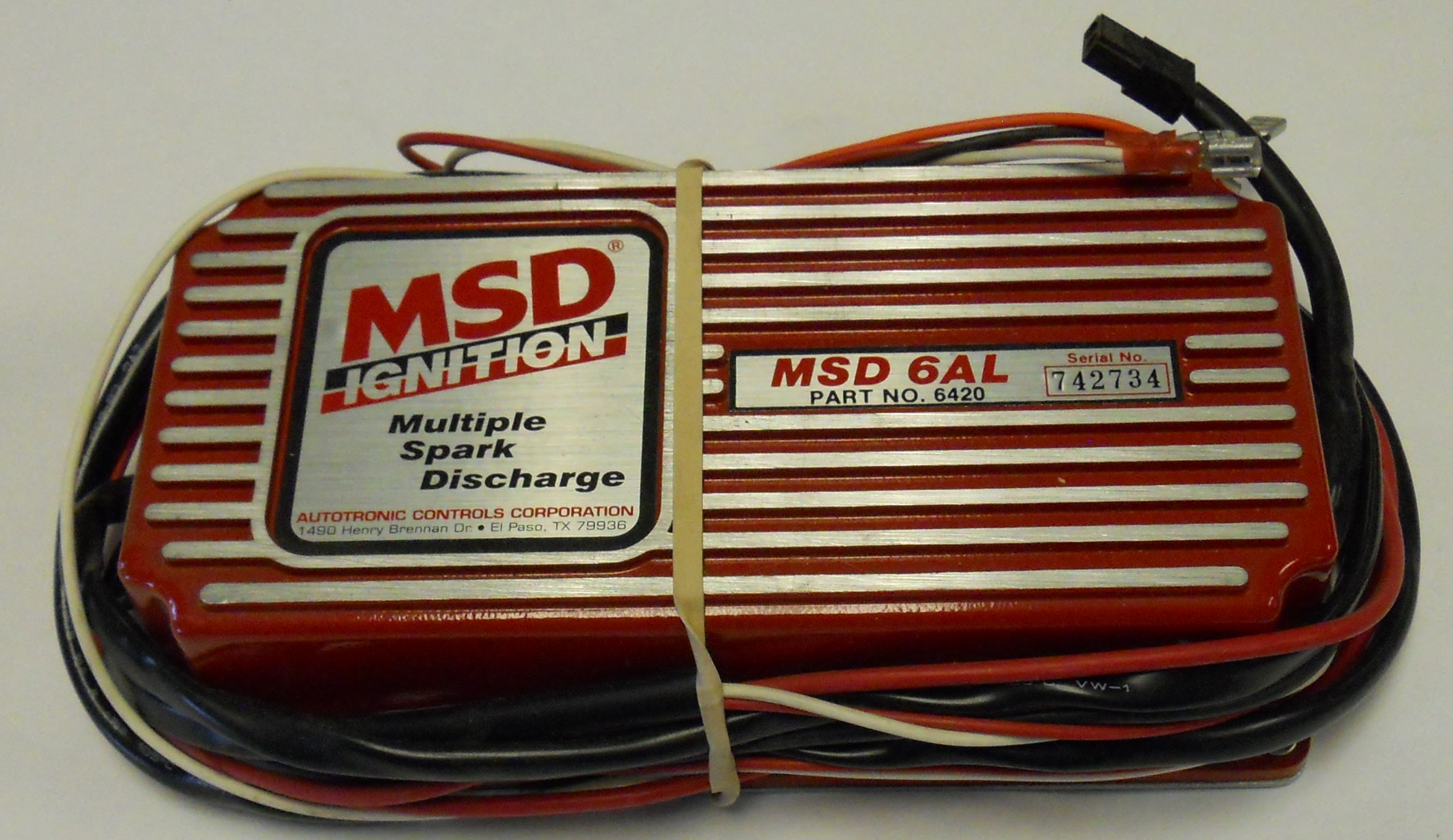 Msd 6420 6al Capacitive Discharge Ignition